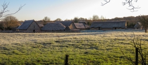 Frosty Cosmeston Medieval Village