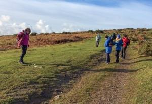 Climbing up to Cefn Bryn