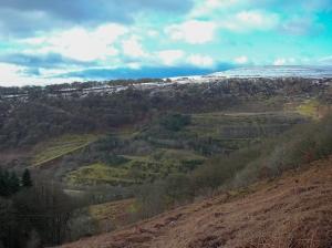 Across the old workings to Cefn Manmoel
