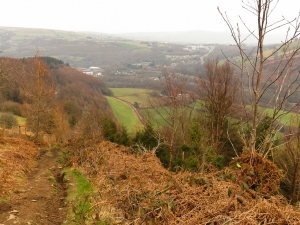 Descending from Garth Hill