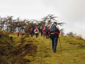 Climbing up to Fan Frynach