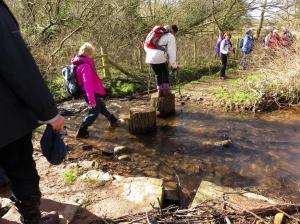 Crossing the Ewyn Brook