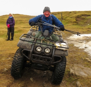 Will and the quad bike