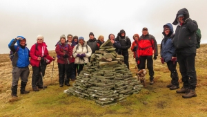 Group pic the Cairn on Fan Frynach