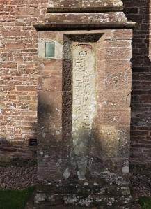 Stone at St Michael's Church Cwmdu