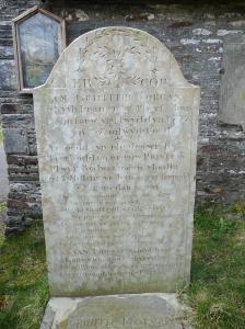 Grave of Guto Nyth Bran at Llanwonno