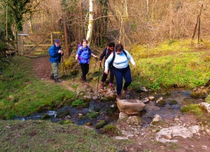 Walking through Taff Fechan Valley