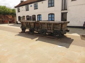 Wagons marking old tramway