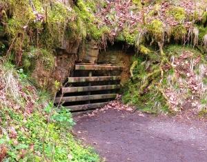 Entrance to silica mine
