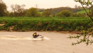 Jet ski prior to the bore
