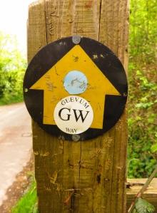 Glevum Way waymarker