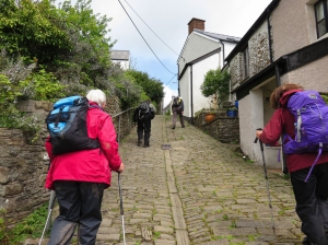 Cobbled streets at Llantrisant