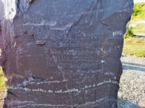 Inscription on stone southernmost tip