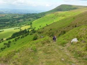 Descending from Mynydd Llangorse