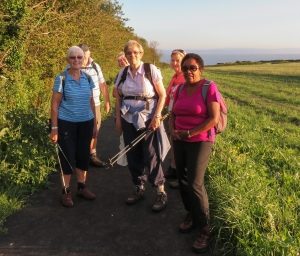 Group at end of walk