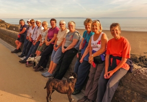 Group pic Barry Island promenade