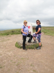 Sian and Wendy conquer the Trig Point
