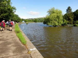 Setting off past Cyfarthfa Lake