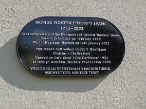 Plaque on old pub wall