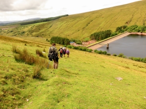 Descending to Ystradfellte reservoir
