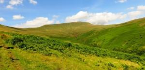 Uphill towards the escarpment