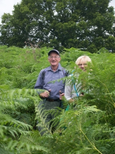 Will Sylvia walking thorugh Ferns