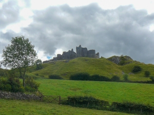Southwesterly view of Carreg Cennen