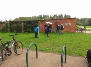 Filming at the Secret Garden