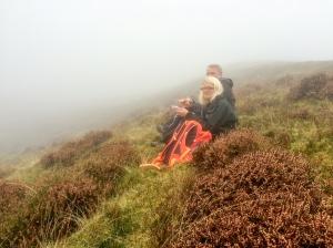 Taking a break through a sea of mist
