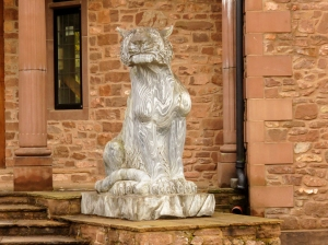 Statue guarding house