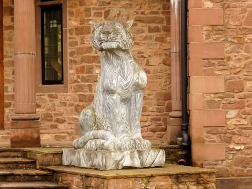 Statue guarding house