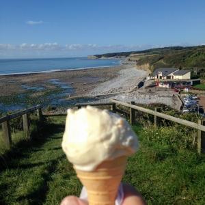 Ice cream at Llantwit Beach