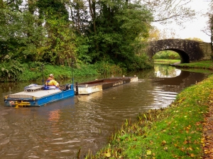 Dredger on canal