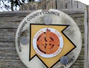 Tewdrig Trail Sign