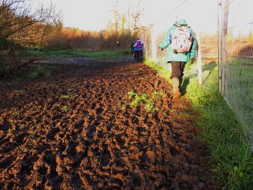 Muddy banks of Ebbw River