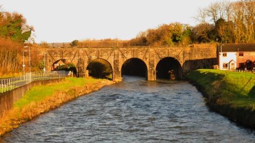 Old Railway Bridge over river