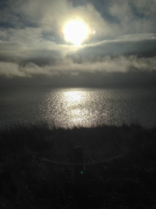Sun breaking thru at Summerhouse Point