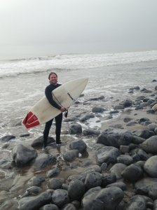 Surfer at Gileston