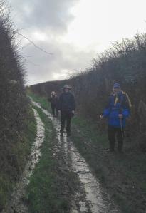 Muddy Track at Llantwit Major