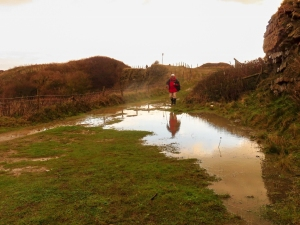 Surface water at Rhoose Point