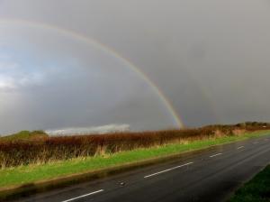 Rainbow on way back