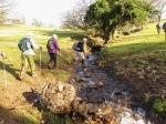 Crossing a swollen brook