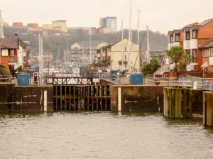 Entrance lock to Penarth Marina