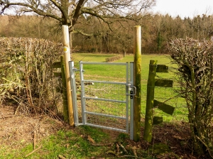 New gates by Ramblers volunteers