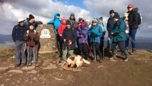 Group picture at trig point on Skirrid