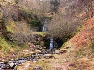 Nant Bwrefwr waterfalls