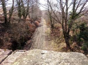 Crossing the railway bridge