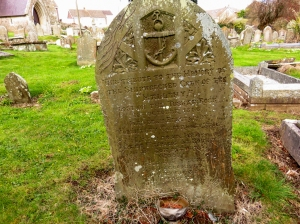 Gravestone to the Malleny St Bridget's church
