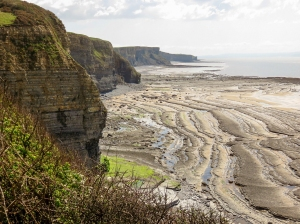 View of all the three beaches to Nash Point