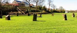 Stone circle Newbridge Fields